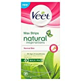 Veet Wax Strips Naturals for Normal Skin - Pack of 40