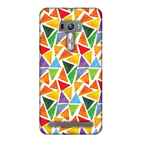 Amzer Slim Fit Handarbeit Designer Printed Hartschale Schutzhülle Back Cover für ASUS Zenfone Selfie zd551kl–Bold Formen -