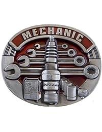 Mecánico-hebilla, profesional, mecánico, el coche, en, hebilla para cinturón