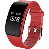 kivors A59Fitness Tracker Activity Tracker Überwachung der Blutdruck Überwachung von Sauerstoff im Blut Armband IP68Wasserdicht Bluetooth 4.0Überwachung Herzfrequenz, unisex - erwachsene, rot