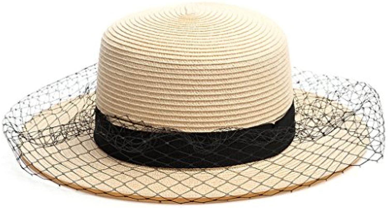 Cappello da Sole Spiaggia Sole da Spiaggia Sole Garza Maglia Sole  QIQIDEDIAN (Coloreee Albicocca) Parent 795080 badbd4d02da3