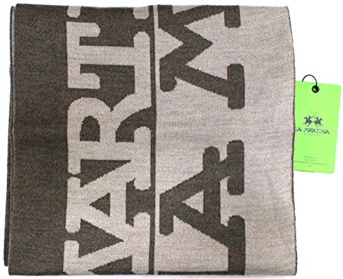la-martina-scarf-unisex-logoed-made-in-italy-cm-170x23-beige