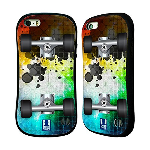 Head Case Designs Mosaic Skateboards Hybrid Case for Apple iPhone 5 / 5s / SE