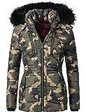 Navahoo - Abrigo - para mujer camuflaje Medium