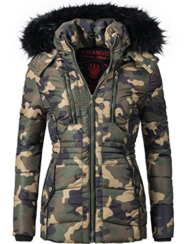 Navahoo Damen Jacke Winterjacke Steppjacke Esma (vegan hergestellt) Camouflage Gr. S