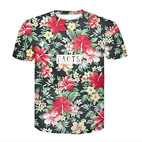 Tops für Männer T-Shirt Männer Bluse Männer 3D Flood Printed Kurzarm Fashion Trend Slogan,3D-Druck A Farbe L