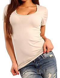 Young-Fashion - Camiseta - Básico - Manga corta - para mujer