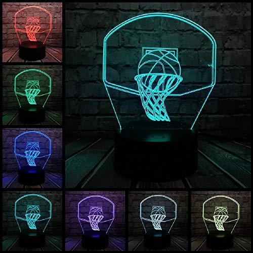 Basketball Sport Dunk Schießen Einen Korb 3D Lampe Nachtlicht Led Licht Weihnachten Decora Kinder Jungen Geschenk