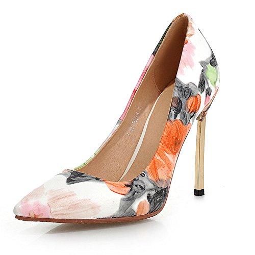Fiore della città punte a spillo scarpe/ tacchi sexy in primavera/ tacco nightclub-A Lunghezza piede=21.8CM(8.6Inch)