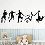yaonuli Junge Zimmer Fußball Wandaufkleber Sport Schlafzimmer Wandaufkleber Kinderzimmer Aufkleber Wandbild abnehmbare Fußball Aufkleber 57X195cm