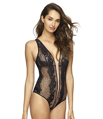 Felina Damen Women's Unveiled by, Candy Bodysuit Dessous-Set, schwarz, Medium/Large - 3