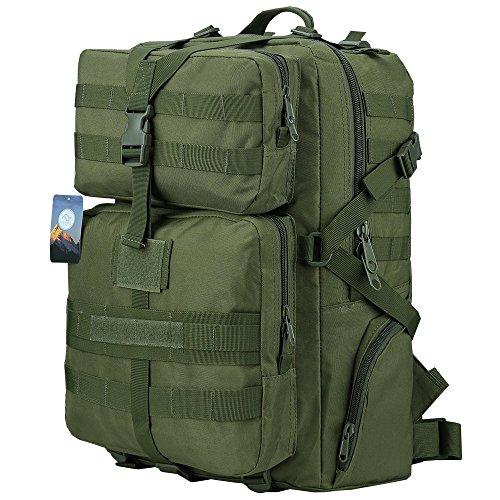 HUKOER 45L Military Tactical Rucksack Outdoor Trekking Rucksack Wasserdichte Schultertasche Combat Pack für Reisen Wandern Jagd Schule mit großer Kapazität (Überschuss Armee Rucksäcke)
