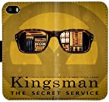 Kingsman Poster S6R2M Cover iPhone 6 6S 4.7 Leather Wallet Case 3R5638 Fashion Phone Flip Cases Plastic