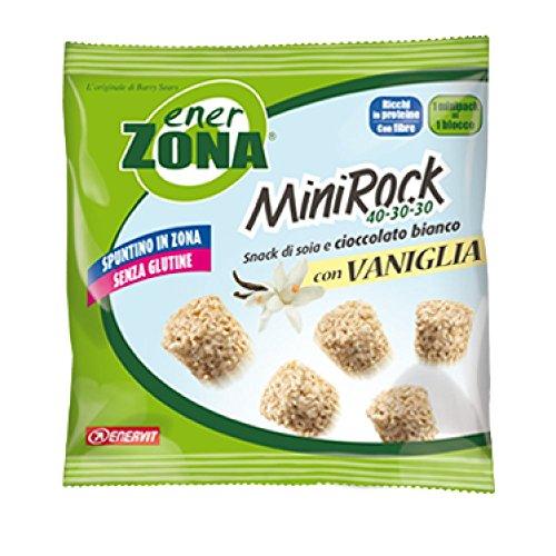 Enervit EnerZona MiniRock 40-30-30 Snack Di Soia E Cioccolato Bianco Con Vaniglia 5 Biscotti 24g - 51xc7hjQZkL
