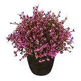 VGIA Home Decor Purple Artificial Retro Plants In Pot, Plastic Flowers Mini Tree