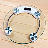 #4: Zelenor Personal Digital Bathroom Body Weight Measuring Scale 8 Mm White (Round)