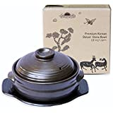 Crazy Cooking de Corea coreano cuenco de piedra (Dolsot), cookware company Hot Pot para Bibimbap y sopa–Premium de cerámica