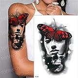 tzxdbh 5 Unids-Gran Brazo Manga Tatuaje Impermeable Temporal Tatto Samurai japonés Tatuajes japonés de Transferencia de Agua Tatoo Etiqueta engomada de Las Mujeres 5 Unids-