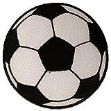 Aufnäher / Bügelbild - Fußball - weiß - Ø5,5 cm -Patch Aufbügler Applikationen zum aufbügeln Applikation Patches Flicken