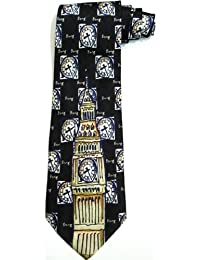 100%SILK BIG BEN CLOCK PARLIAMENT SOUVENIR (SUPERB) TIE