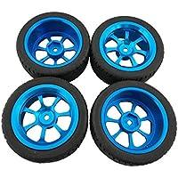 Fytoo 4pcs Rueda Neumático para 1/18 Wltoys A959-B A979-B A959 A969 A949 A979 K929 A969-B K929-B RC Carro Accesorio