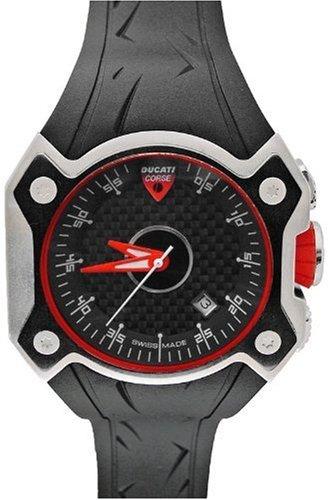 Ducati CW0019 - Reloj de Caballero de Cuarzo, Correa de Goma Color Neg