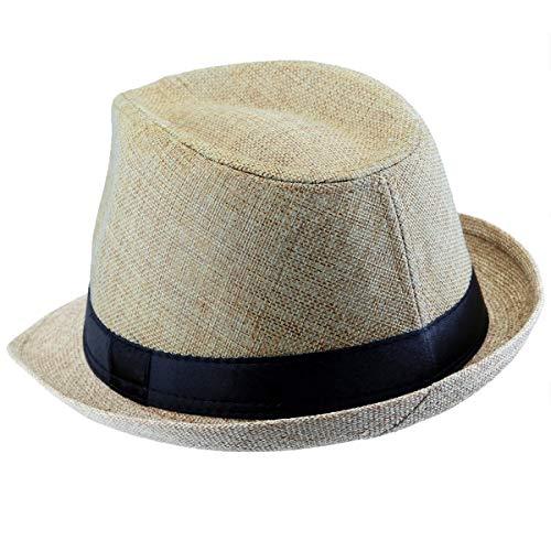 KYEYGWO Fedora-Hut Mode Filz Gangster Hüte für Mann und Frau, Trilby Snap breiter Krempe Vintage Style Dress (Filz Fedora Hüte)