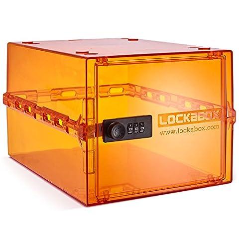 Lockabox, sichere Aufbewahrungsbox bei Demenzpflege / Diabetes / Allergien, ideal zur Aufbewahrung von z. B. elektronischen Geräten, kindersicher, 10,5 Liter Fassungsvermögen, hergestellt im Vereinigten Königreich
