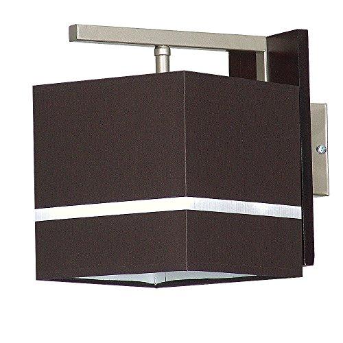 Edle Wandleuchte in Dunkel Braun Bauhausstil 1x E27 bis zu 60 Watt 230V aus gewebten Stoff & Metall...