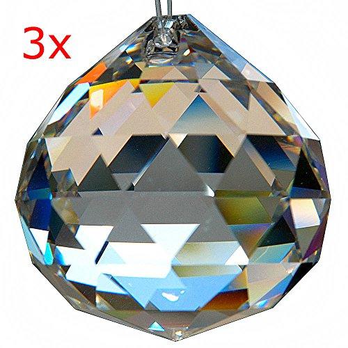 HAB & GUT (G701-40) Bola de cristal, juego de 3 piezas, talla triangul