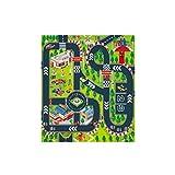 CAOQAO Tapis De Jeu - Trafic - Tapis Circuit,pour Enfants Circuit De Voitures dans La Ville,Jeu Fun Baby Crawling Mat Tapis BéBé Enfant,Paysages Routiers DifféRents comme Un Cadeau d'anniversaire,A
