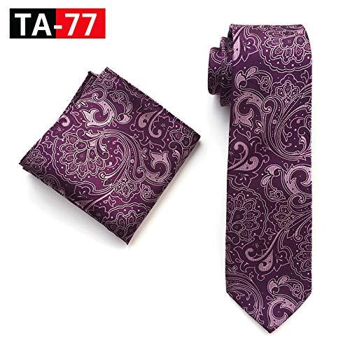 LLTYTE Klassische Navy Gold Paisley Herren Krawatte Set Silk Jacquard Woven Tie Einstecktuch Set Hochzeit Bräutigam Krawatten Patrick Woven Tie