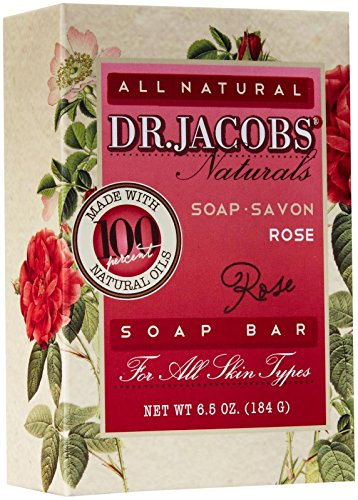 Rose Castile Soap Bar (Dr. Jacobs Naturals Bar Soap - Castile - Rose - 6.5 Oz)