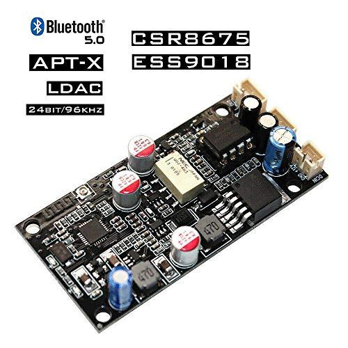 Nobsound Stereo CSR8675 Bluetooth 5.0-Empfänger ES9018 DAC-Audio-Dekodierungsplatine APTX 24Bit Single-channel-modul Video