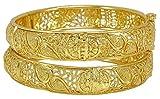 Banithani 18K vergoldet traditionelle Hochzeit Schraubensicherung Kada Armreif Nachahmung Schmuck-2 * 6