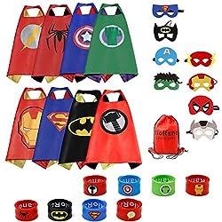 RioRand Dress Up Costume Comics Cartas de satén de dibujos animados Set de 8 pulseras 1 estuche de transporte (8 capas)