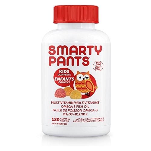 Kids Complete Multi + Omega 3 + Vitamin D, 120 Delicious Gummies - SmartyPants (D Vitamin Gummies)