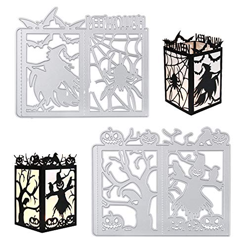 Halloween Kürbis Papier Ausschnitte - VINFUTUR 2 STK Halloween Hexe und