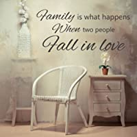 Family is what happens Vinyl Wall Quote Sticker by Wall Stickers HQ