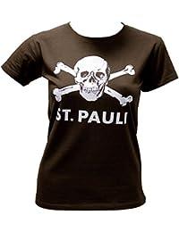 St. Pauli camiseta de calavera de las mujeres Marrón - L