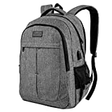 Laptop Backpack, Large Business Travel Bag fits 15.6-17.3 Inch Laptop Rucksack with USB