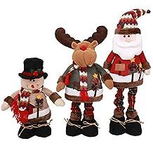 Hemore - Figura Decorativa retráctil de Navidad para niños