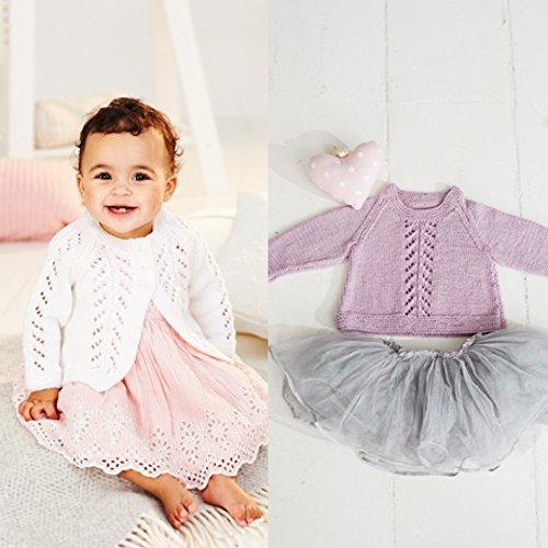 Stylecraft Strickgarn, DK Strickmuster für Baby-Pullover und Strickjacke mit 9499
