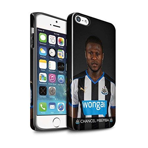 Offiziell Newcastle United FC Hülle / Glanz Harten Stoßfest Case für Apple iPhone SE / Pack 25pcs Muster / NUFC Fussballspieler 15/16 Kollektion Mbemba