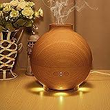 ryham 600ml Pod en forma de grano de madera aromaterapia difusor Aroma atomizador humidificador de aire LED ultrasonidos purificador ionizador difusor
