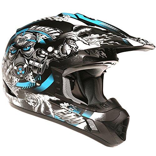 Thh tx12# 22adulto Off Road Motocross MX Enduro casco–tóxicos (XL, negro, amarillo, azul)