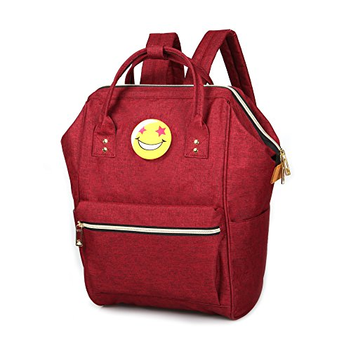 Hot Fashion Style borsa zaino moda donna tela borsa fasciatoio, Red Red