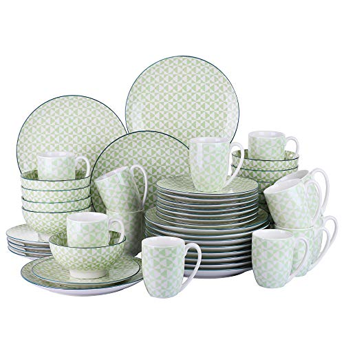 Vancasso Midori Porzellan Tafelservice, 48-teilig Set, Geschirrservice, Kombiservice für 12 Personen