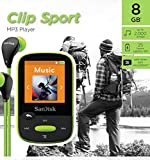 from SanDisk SanDisk Clip Sport 8 GB MP3 Player - Lime Model SDMX24-008G-G46L