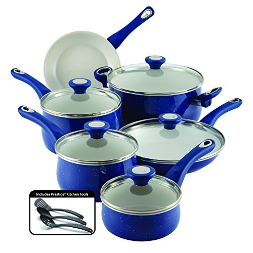 farberware-new-traditions-speckled-aluminum-nonstick-14-piece-cookware-set-blue